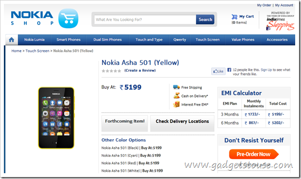 Nokia 501 Price in India